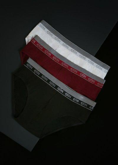 Culotte en coton modal avec élastique extérieur - Noir