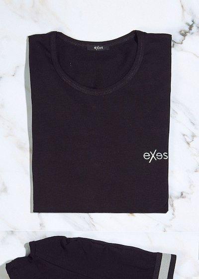 Round-neck T-Shirt in bi-elastic cotton