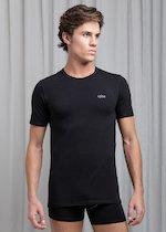 T-Shirt girocollo in cotone bielastico