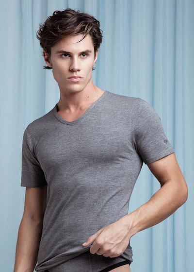 V-neck cotton modal T-Shirt