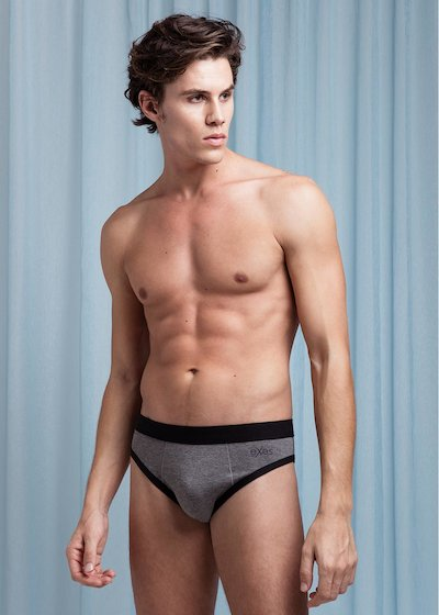 Modal cotton briefs with external elastic band