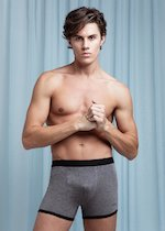Modal cotton boxer with external elastic band
