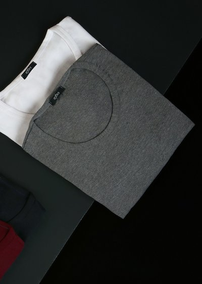Round-neck cotton modal T-shirt