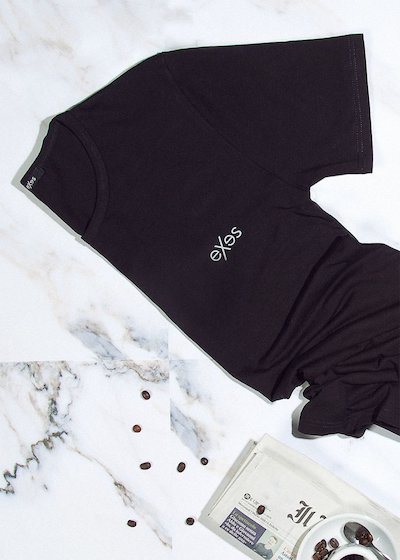 Round-neck T-Shirt in bi-elastic cotton