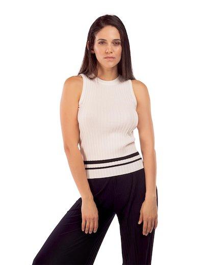 da972c3c645e5 Top in maglia girocollo da donna in vendita online