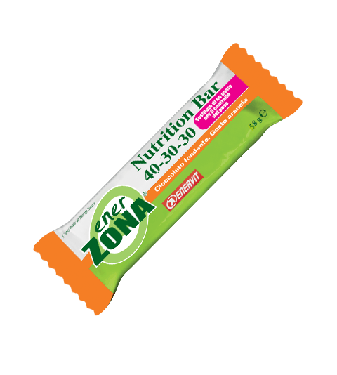 ENERZONA NUTRITION BAR 40-30-30 SOSTITUTO DEL PASTO GUSTO ARANCIA - Arancia