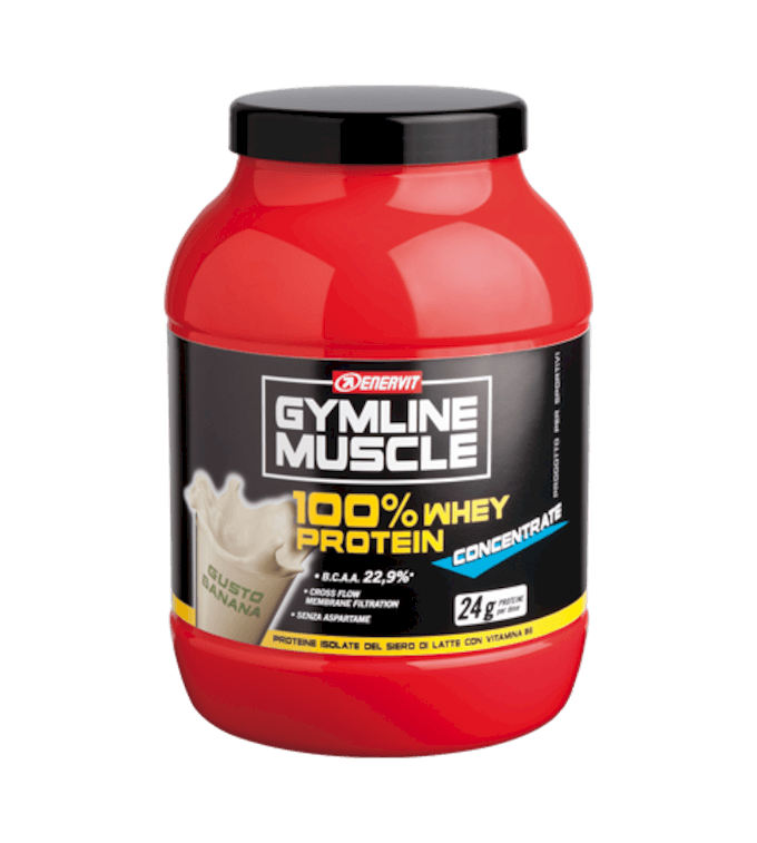 ENERVIT GYMLINE MUSCLE 100% WHEY PROTEIN CONCENTRATE BANANA