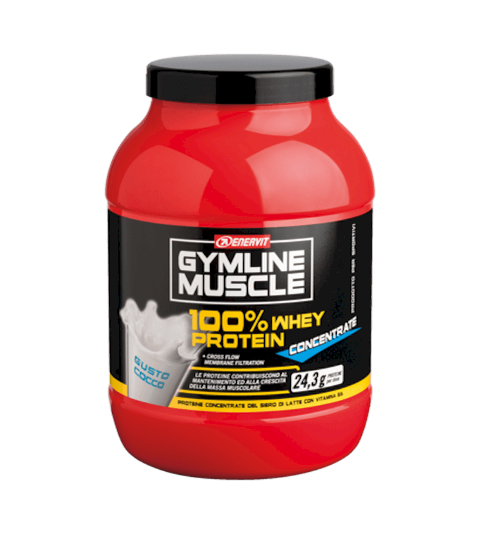 ENERVIT GYMLINE MUSCLE 100% WHEY PROTEIN CONCENTRATE COCCO