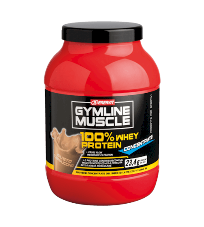 ENERVIT GYMLINE MUSCLE 100% WHEY PROTEIN CONCENTRATE CAPPUCCINO