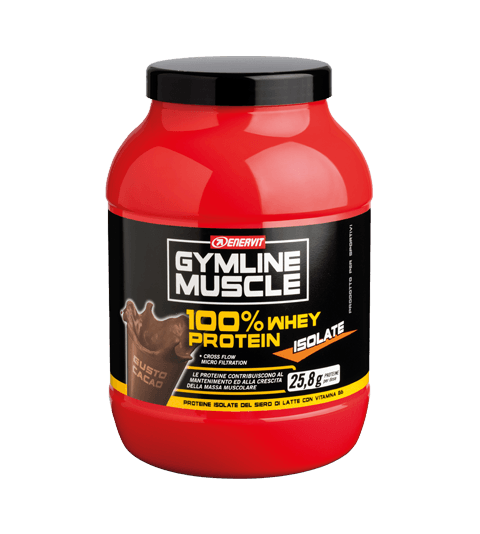 ENERVIT GYMLINE MUSCLE 100% WHEY PROTEIN ISOLATE CACAO - Cacao