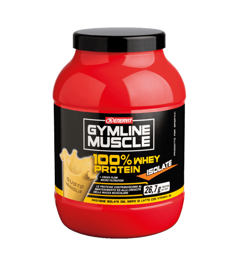ENERVIT GYMLINE MUSCLE 100% WHEY PROTEIN ISOLATE VANIGLIA
