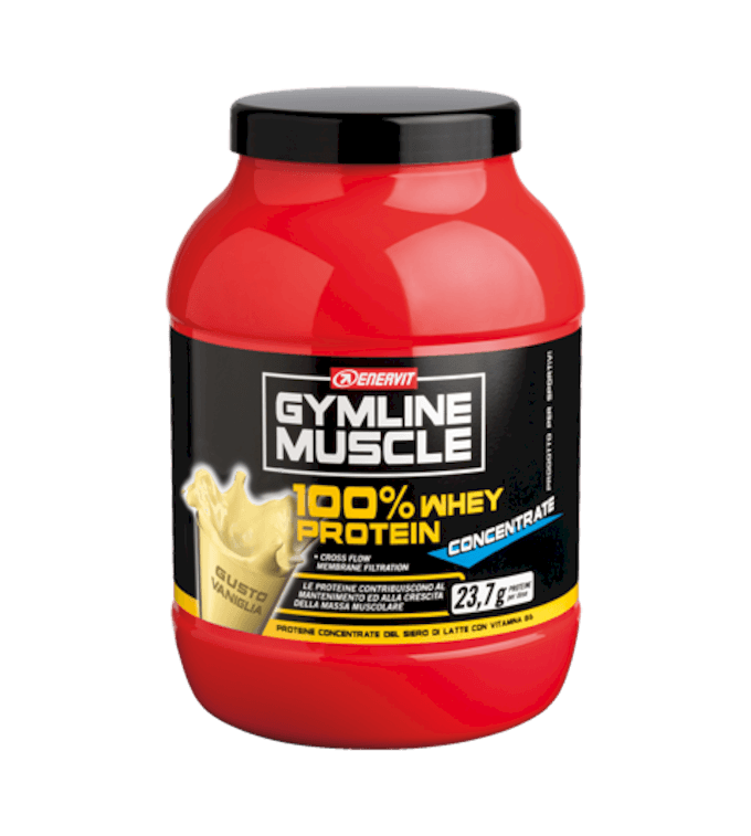 ENERVIT GYMLINE MUSCLE 100% WHEY PROTEIN CONCENTRATE VANIGLIA