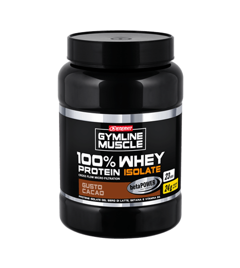 ENERVIT GYMLINE MUSCLE 100% WHEY PROTEIN ISOLATE + BETAINA - Cacao