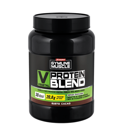 ENERVIT GYMLINE MUSCLE VEGETAL PROTEIN BLEND CACAO - Cacao