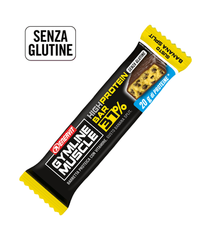 ENERVIT GYMLINE MUSCLE PROTEIN BAR 37% BANANA
