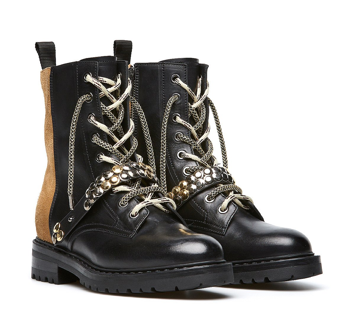 Barracuda Rock combat boots in exquisite calfskin