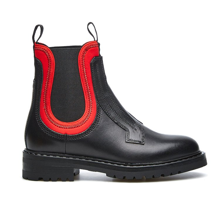 Barracuda Beatle boots in calf leather and neoprene
