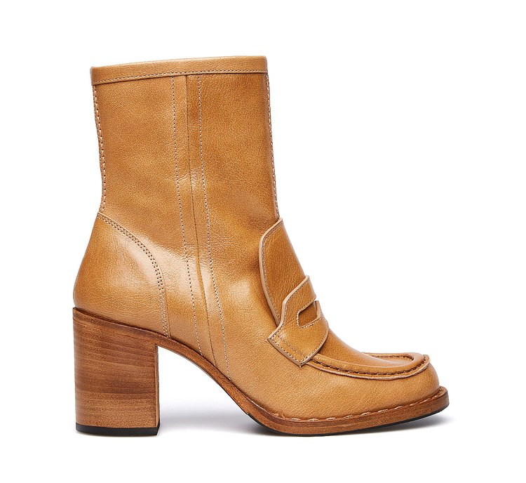 Barracuda ankle boots in soft buffalo leather