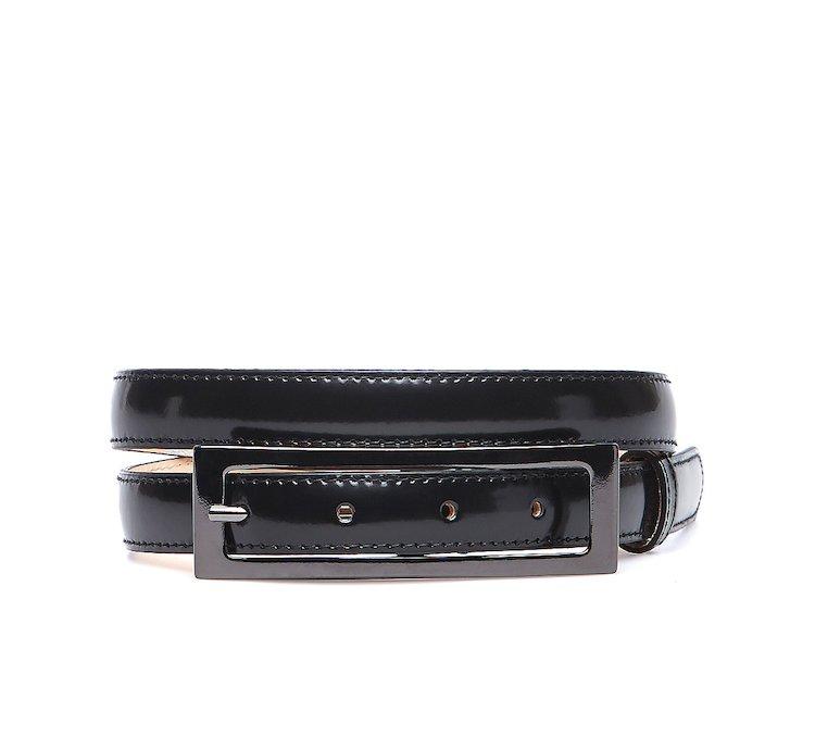Shiny look leather belt