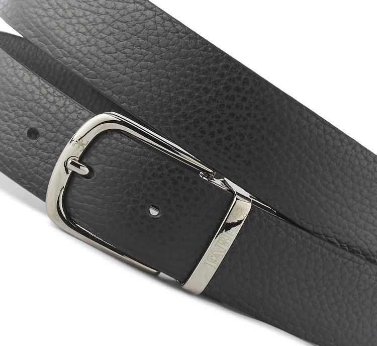 ... Cintura reversibile in pregiato cervo - Black 8879c74d4737