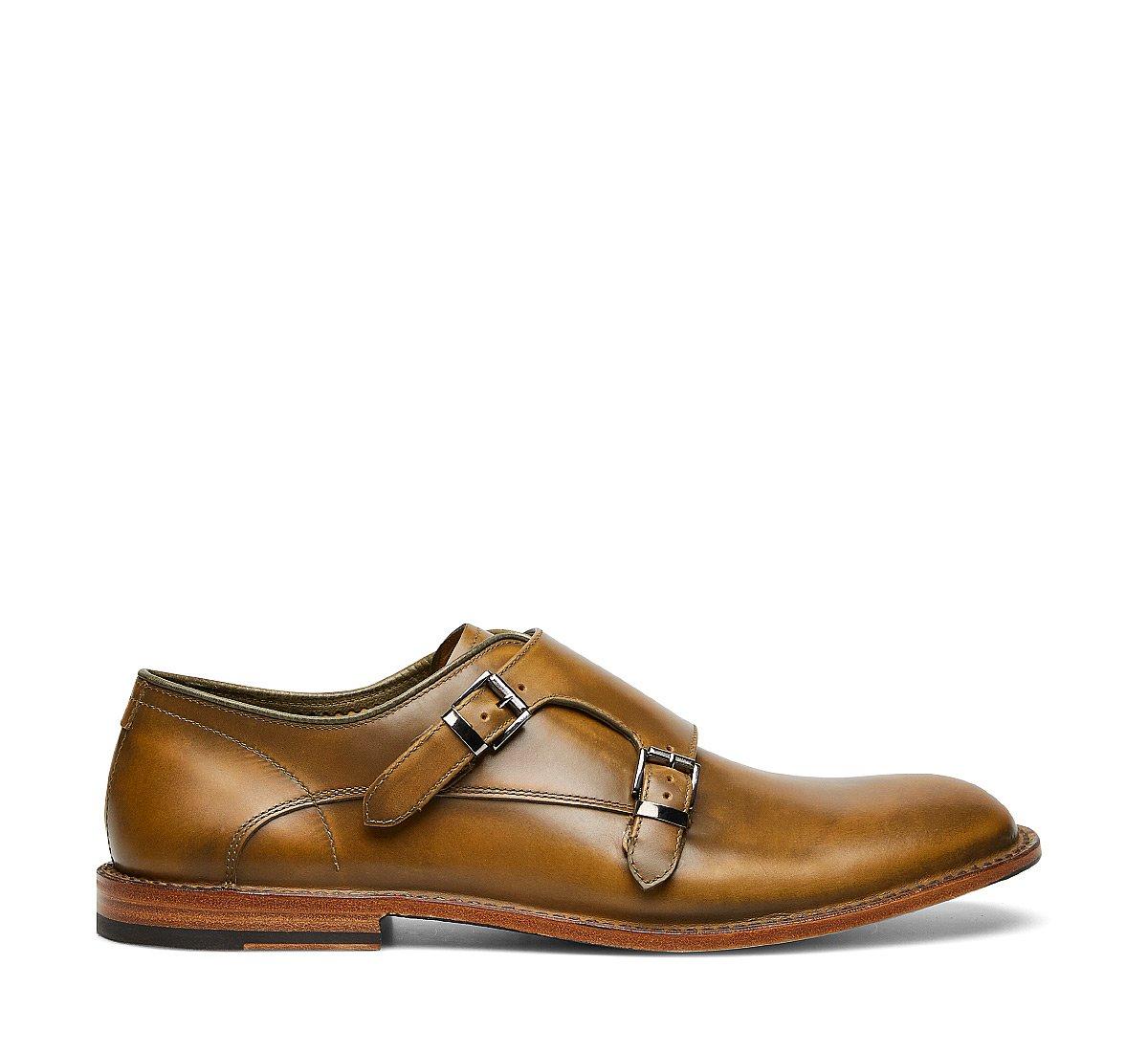 Barracuda Double monk strap calfskin shoes
