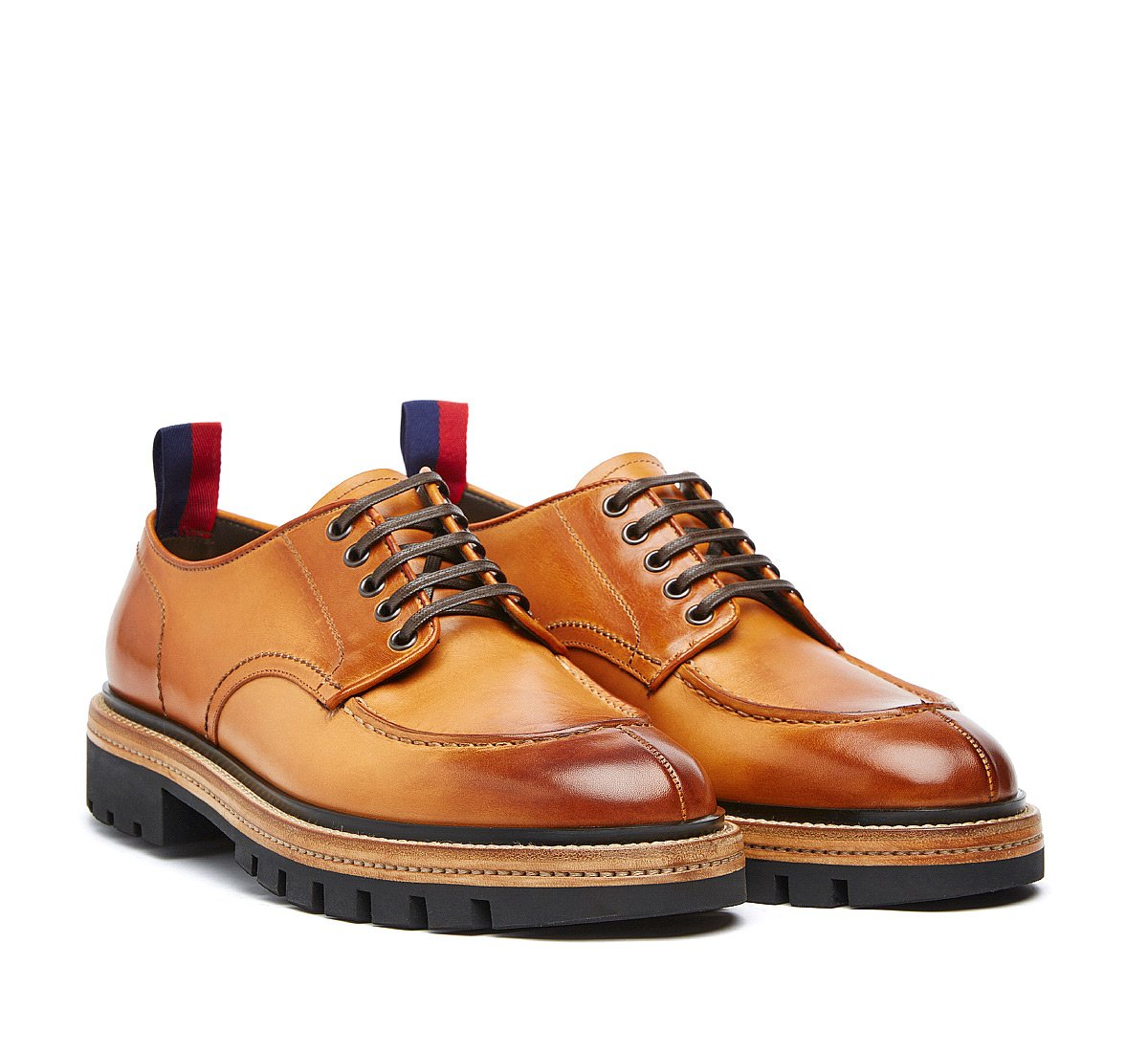 Barracuda lace-ups in fine calf leather