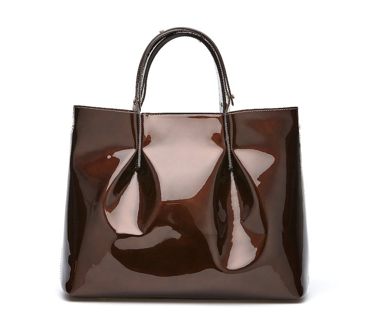 Shopper in shiny calf leather