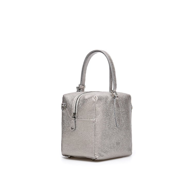 Bowling bag in calf leather