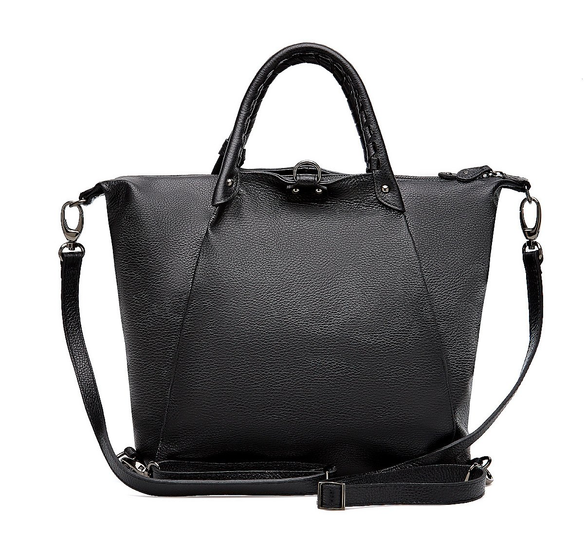 Shopper in calf leather