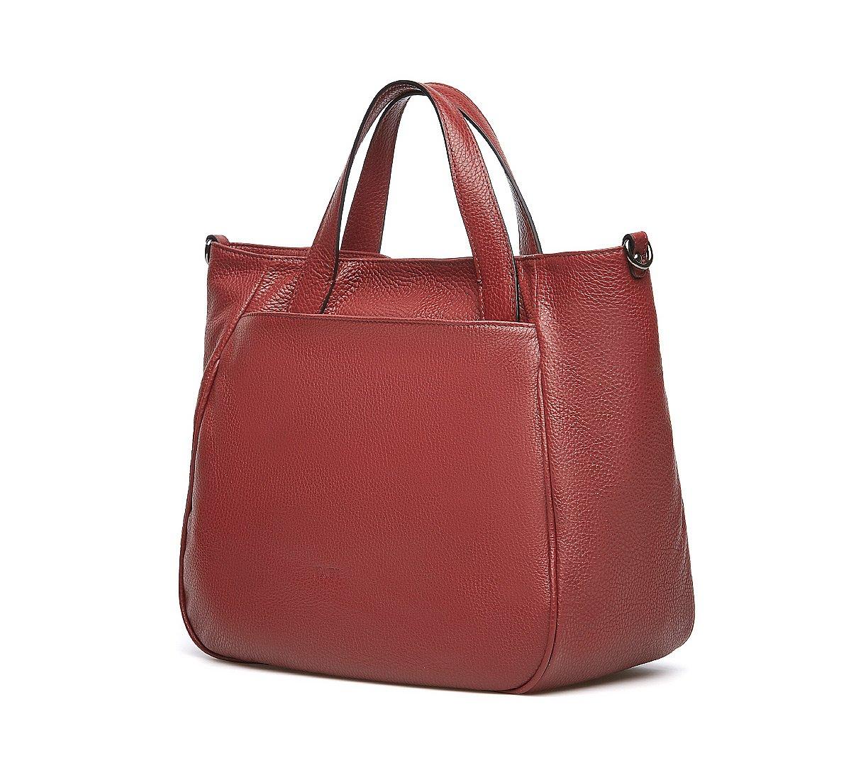 Soft leather bucket bag
