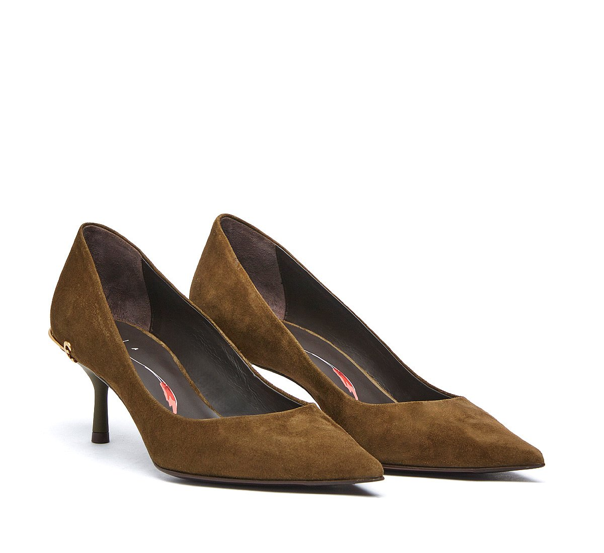 Court shoes in soft suede