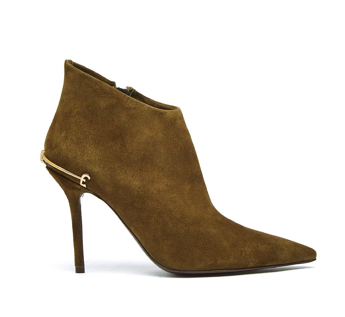 Ankle boots in very soft calf leather