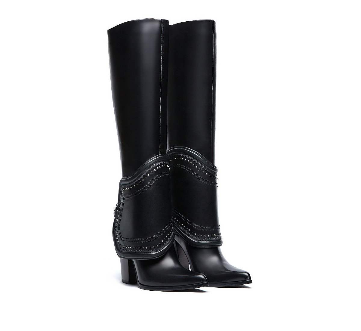 Saddle boots in luxury calf leather