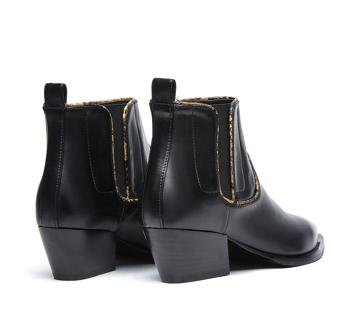 Texan boots in soft calf leather