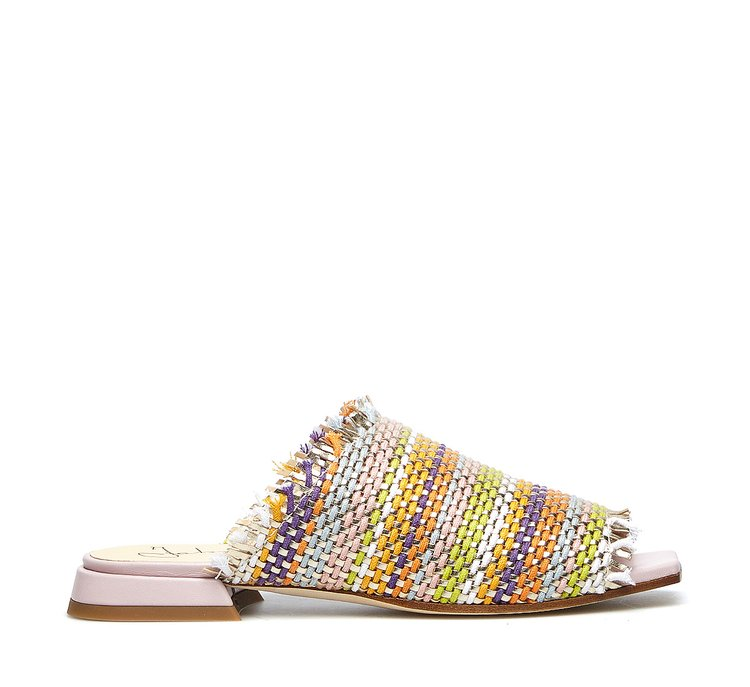 Woven fabric slip-ons