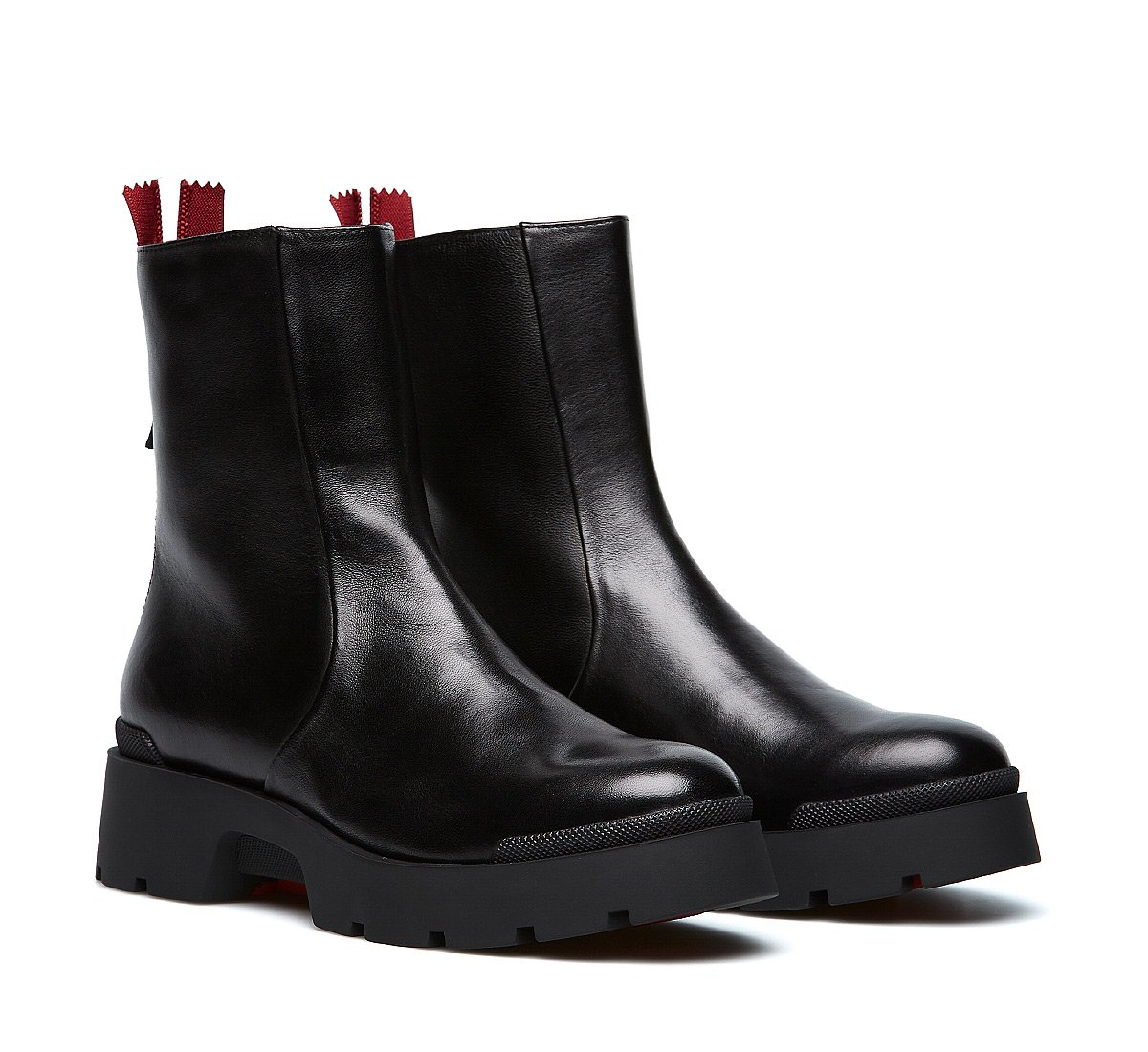 Ankle boot in morbida nappa