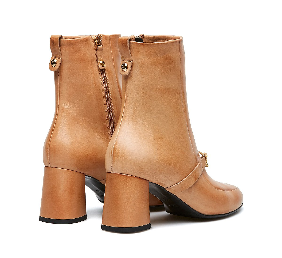 Fabi iconic ankle boots in soft calfskin