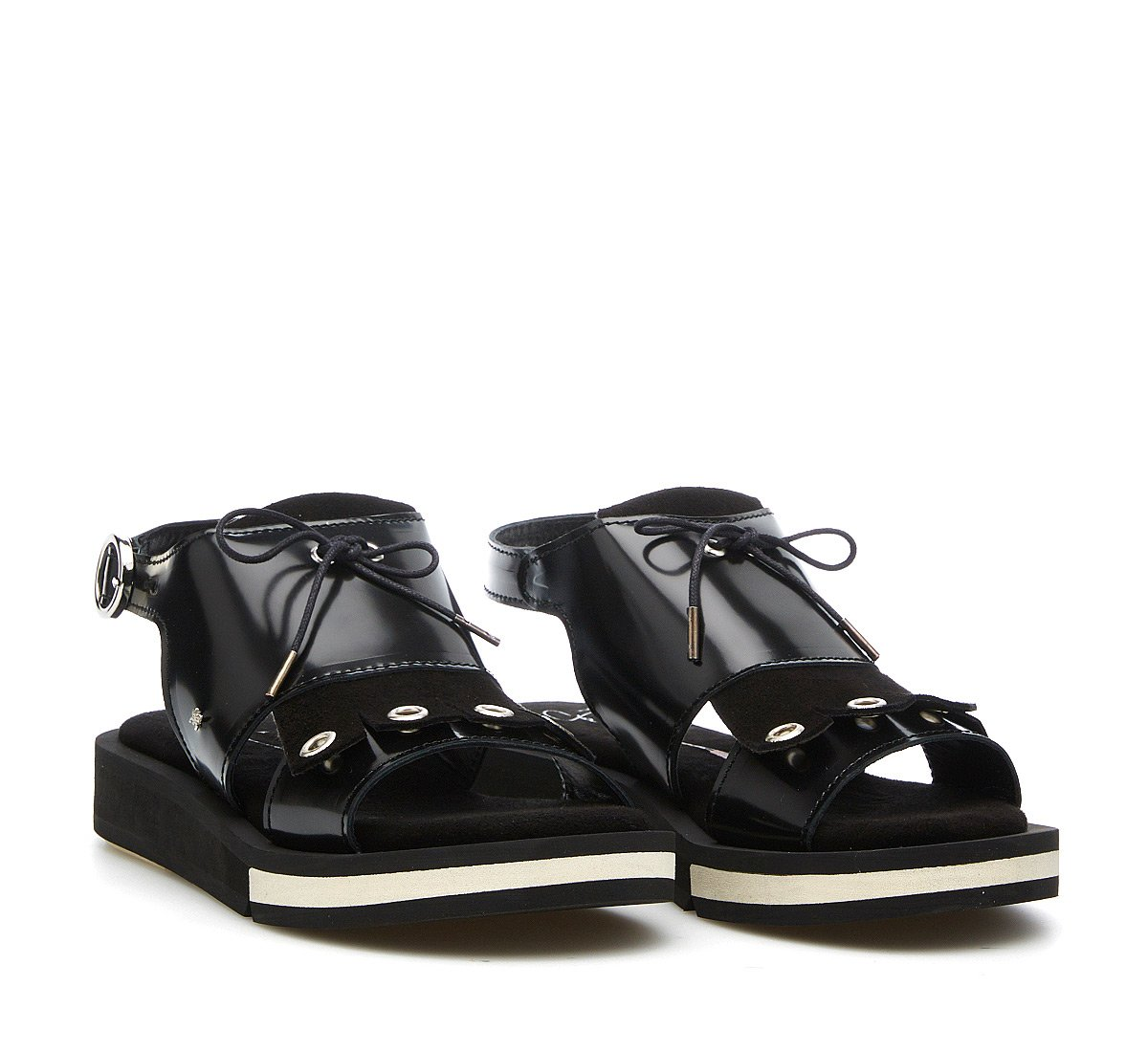 Calf leather sandals