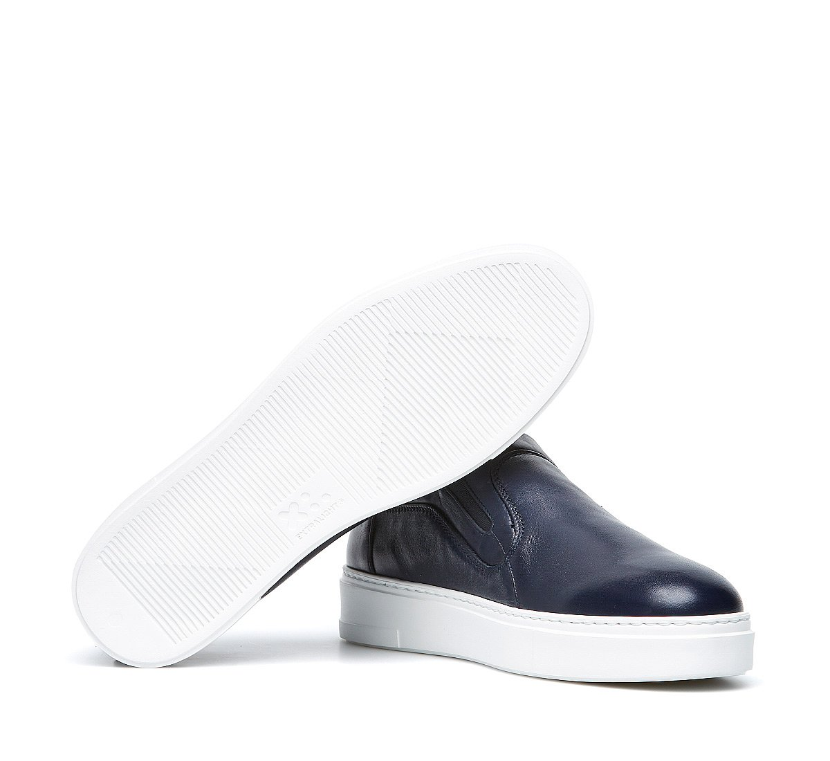 Slip on in nappa con fodera in caldo montone
