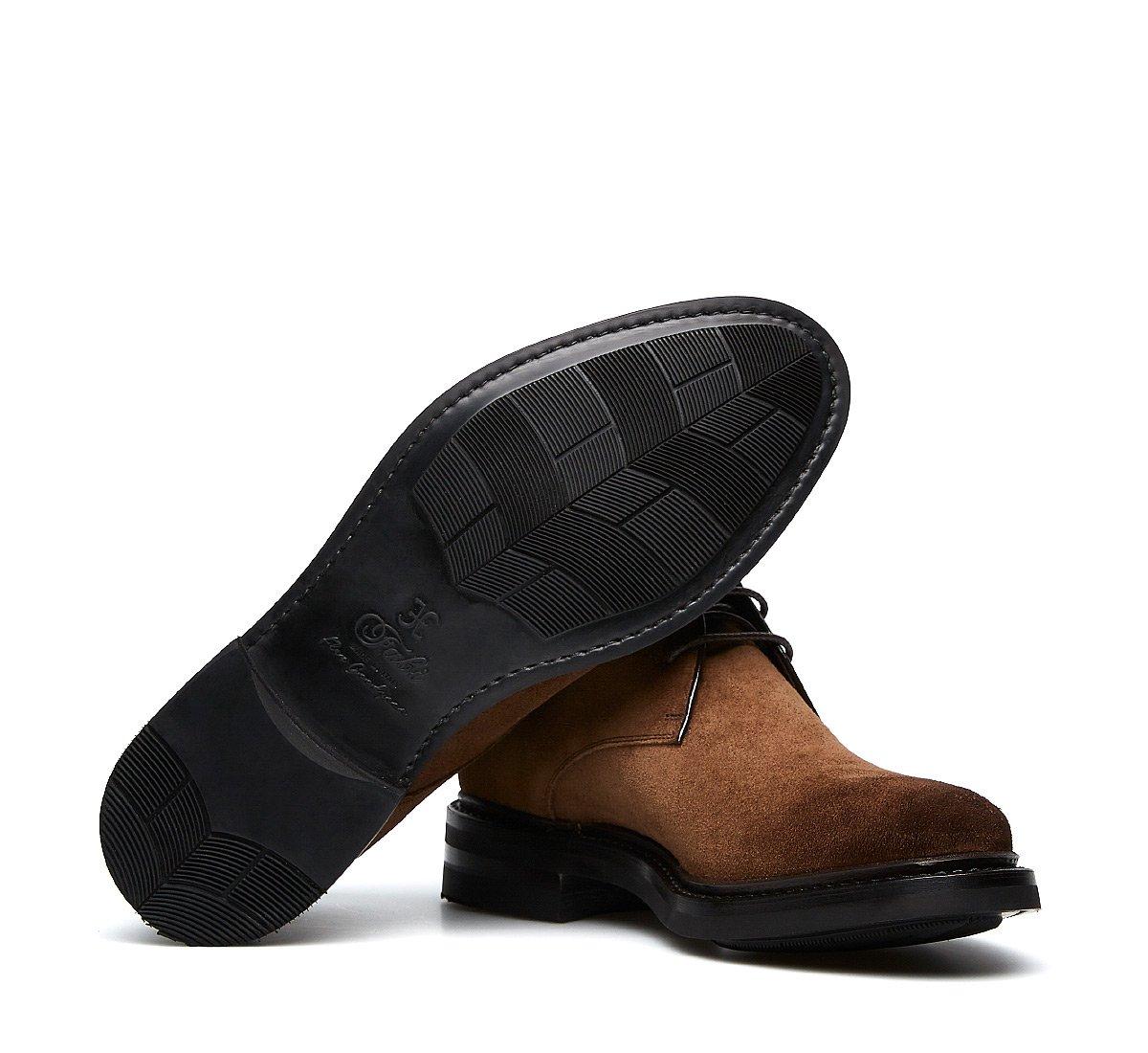 Fabi Flex Goodyear ankle boots in suede calfskin