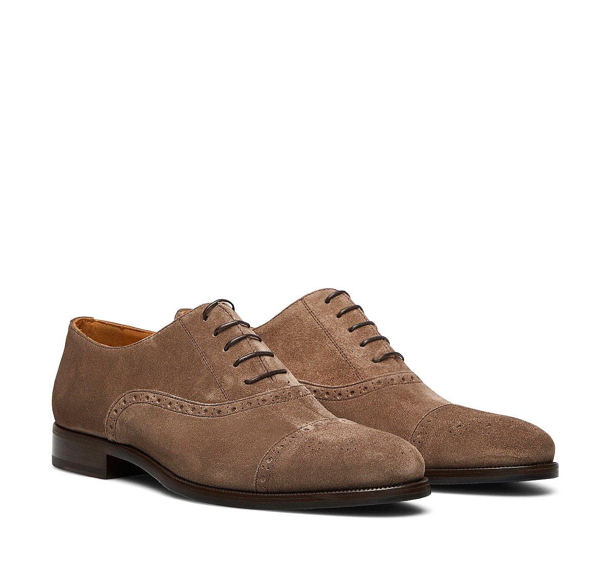 Туфли-оксфорды из замши