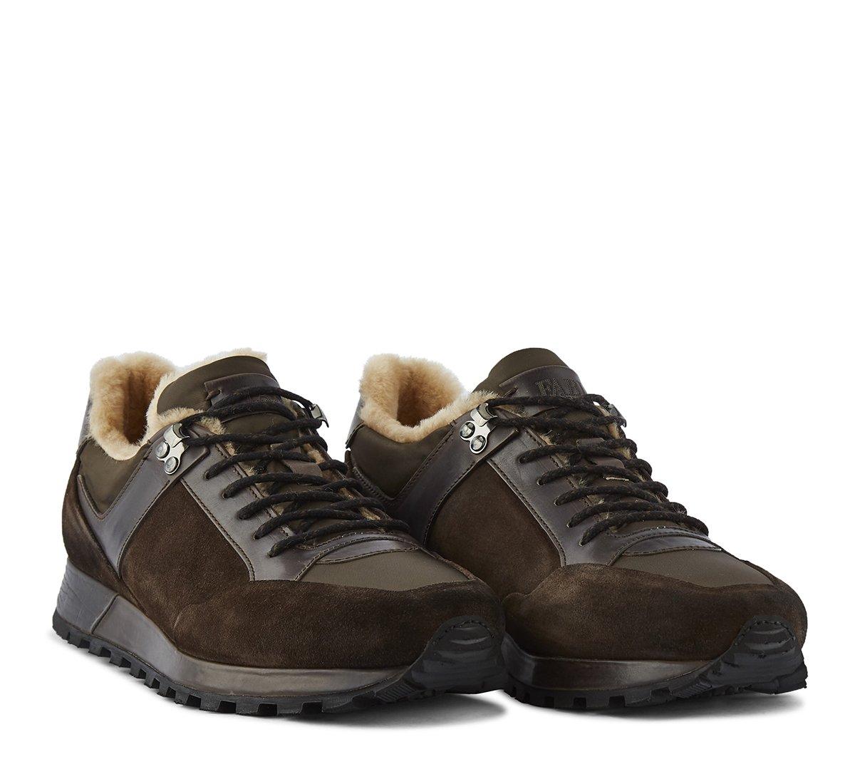 Sneaker in morbido vitello