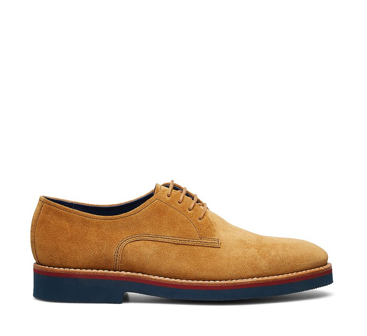 Derby in suede