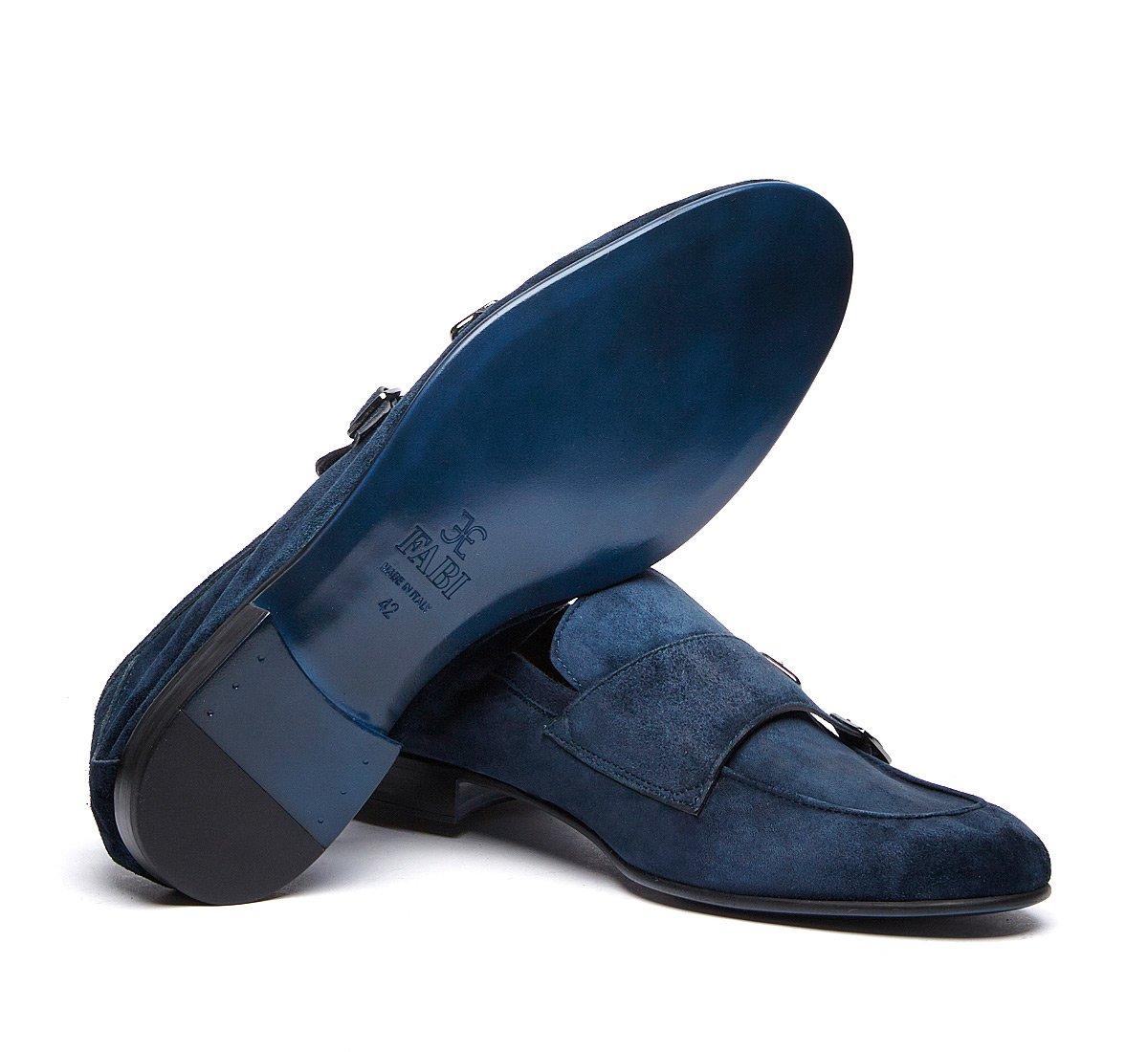 Double monk strap calfskin shoes