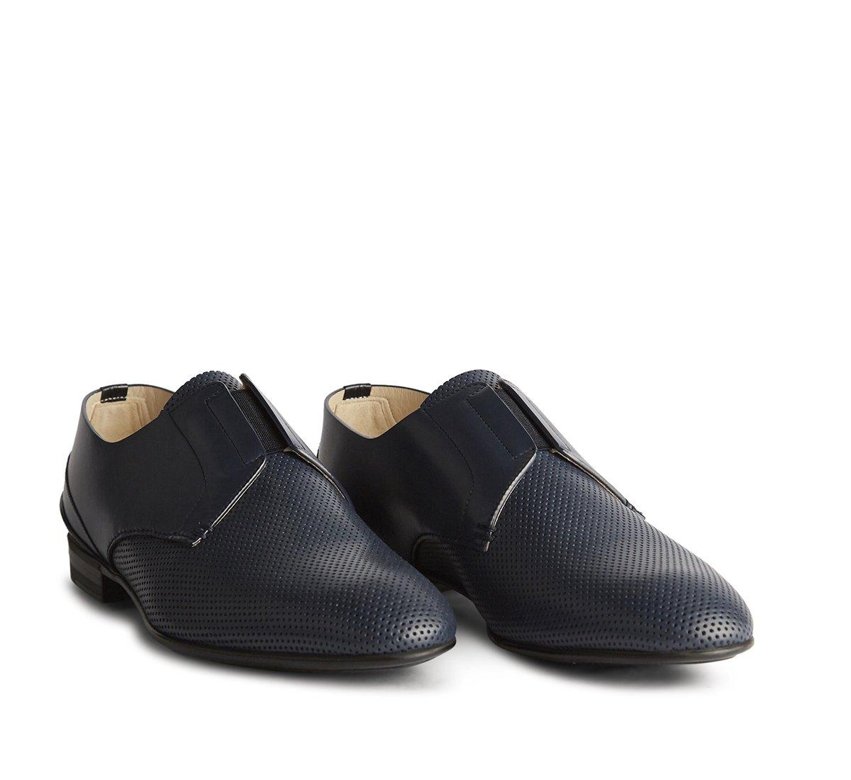 Туфли на шнуровке из телячьей кожи без подкладки