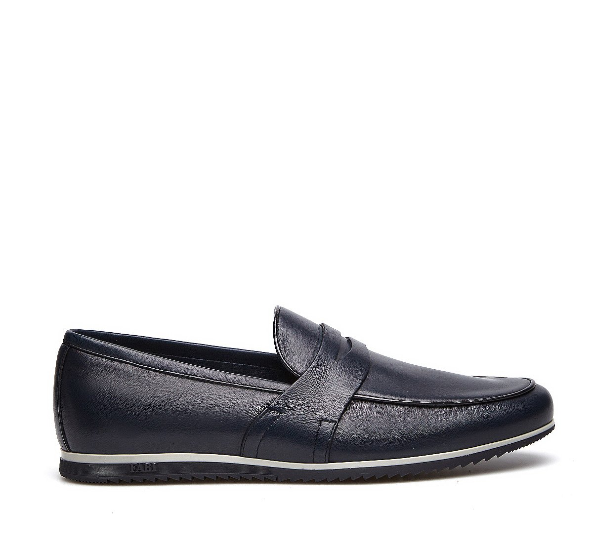 Sporty moccasins in soft nappa