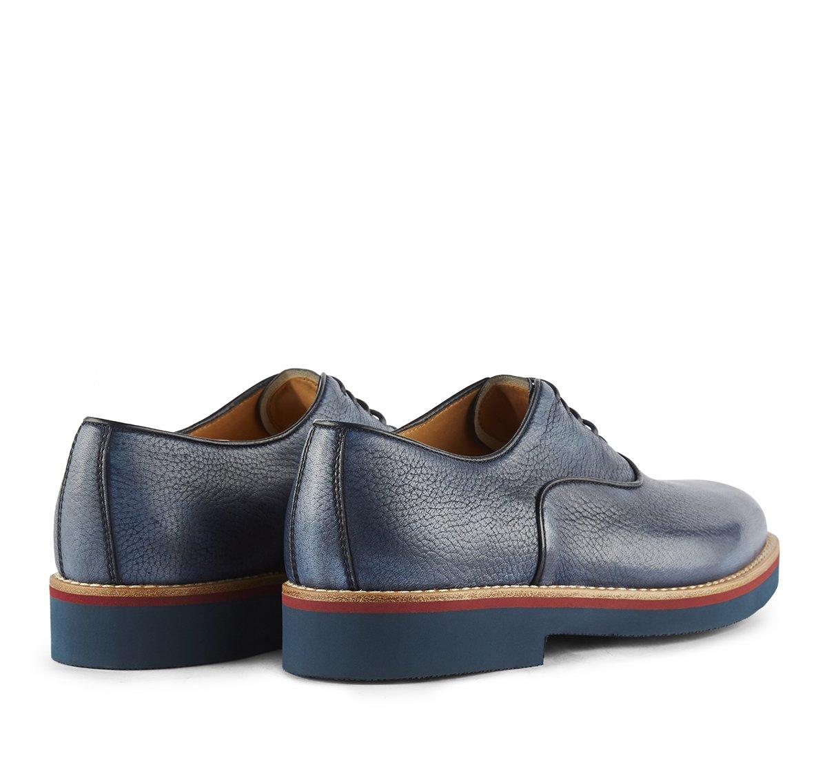 Туфли на шнуровке из оленьей кожи, окрашенной вручную