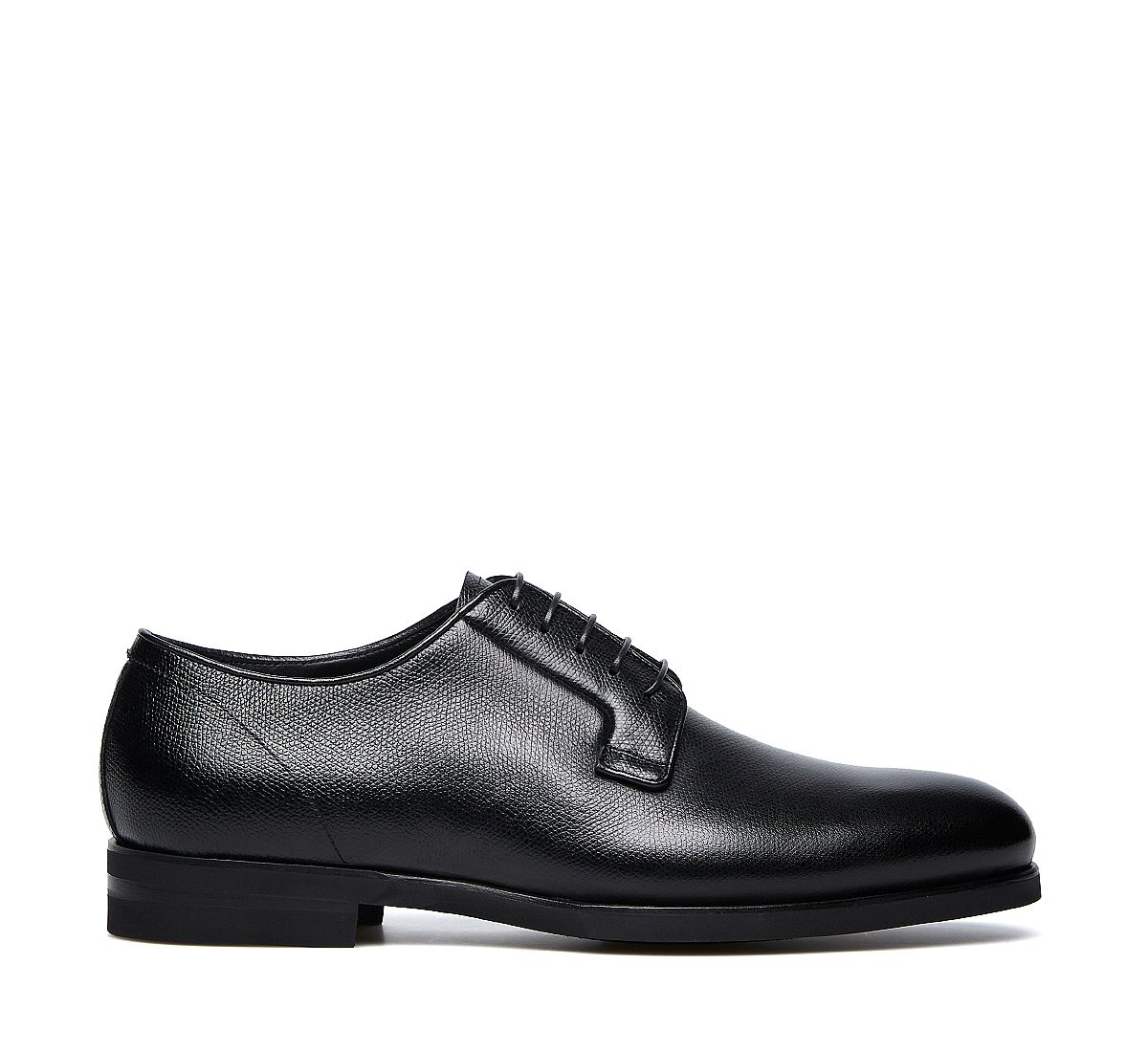 Five-eyelet derbies in calfskin