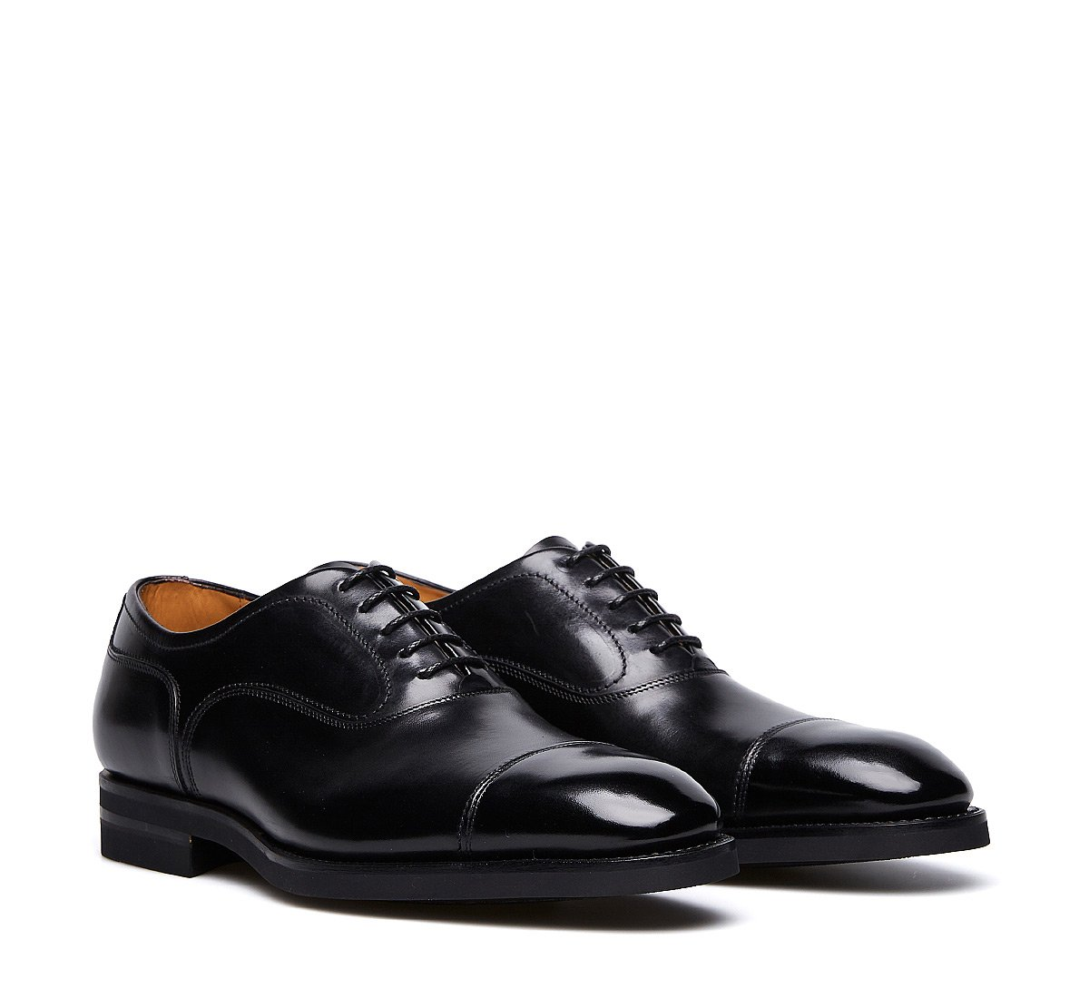 Exquisite calfskin lace-ups