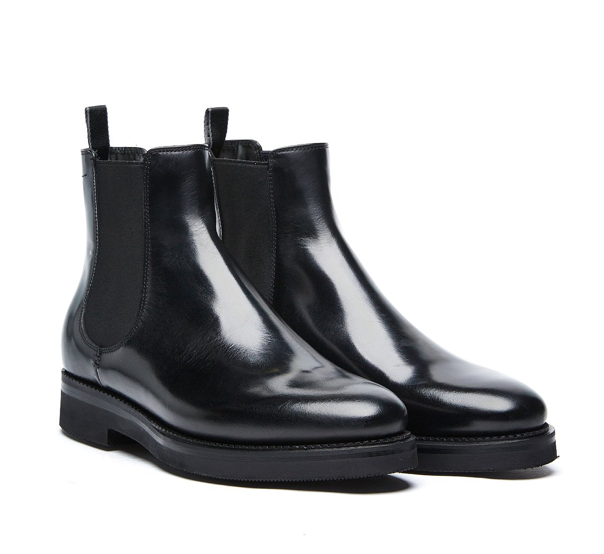 Fabi Beatle boots in luxury calf leather with wool lining